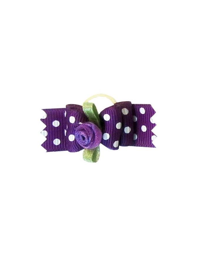 Mašnica za psa - Violet dots
