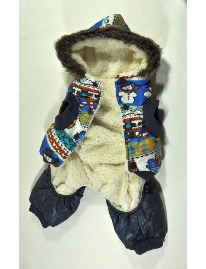 Dog winter coats on 4 legs - Snowman
