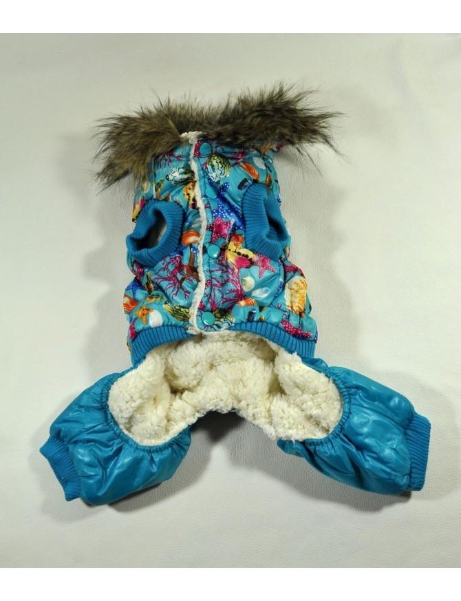 Dog winter coat - Blue marine