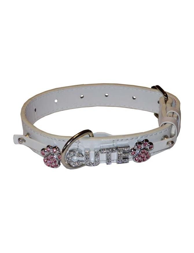 Dog collar - Luxury white