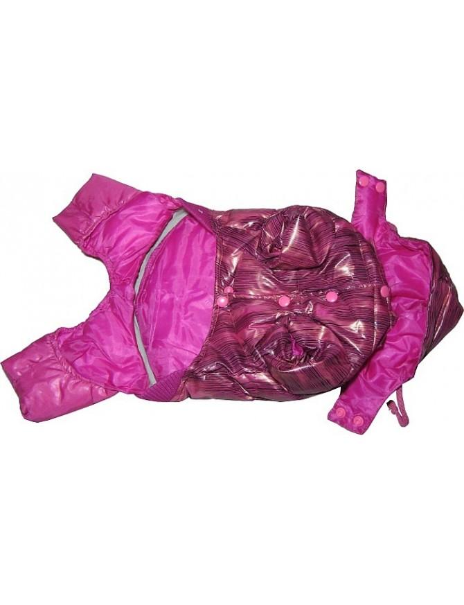 Dog coat on 4 legs - Purple rose
