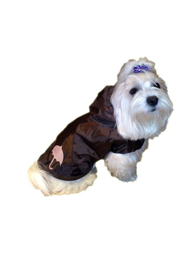 Dog rain coat - Chocolate