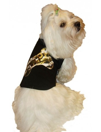 Dog T-shirt - Black bone