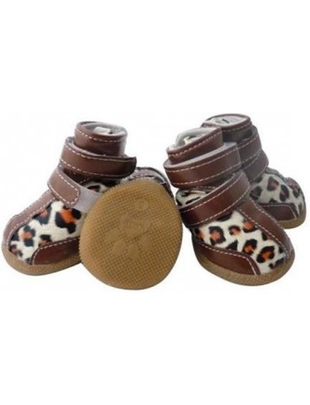 Dog shoes - Brown gepard