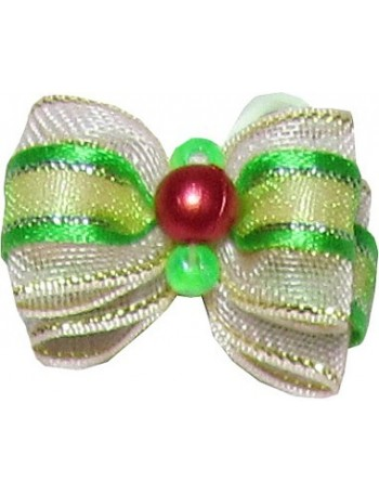 Dog bow - Golden green