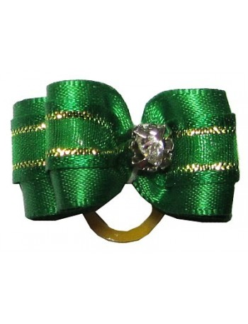Dog bow - Green glam
