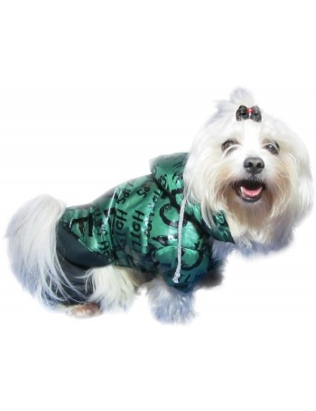 Dog coat on 4 legs - Green hot lips