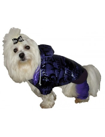 Dog coat on 4 legs - Violet hot lips