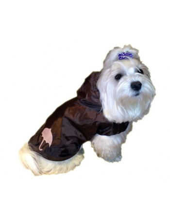 Dog rain coat - Chocolate