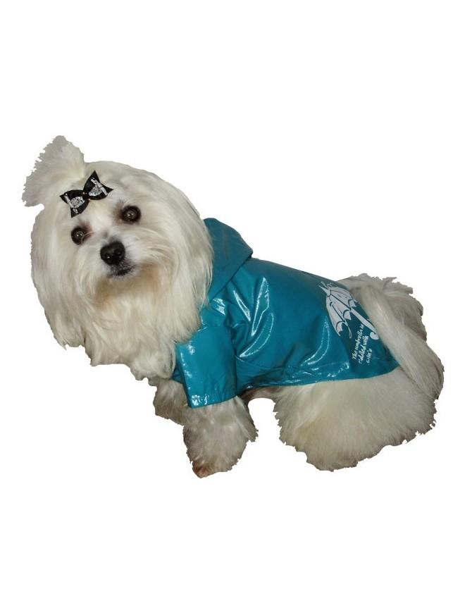 Pasji dežni plašček - Turquise