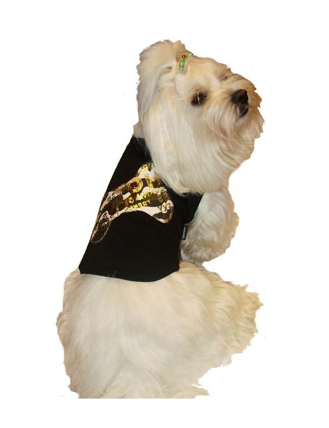 Dog T-shirt - Black bone