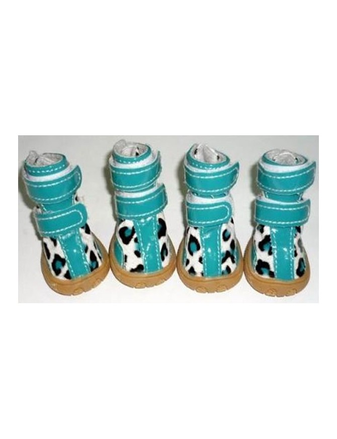 Dog shoes - Turquise gepard