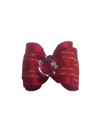 Dog bow - Diamant red