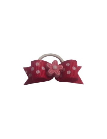 Dog bow - Floral red